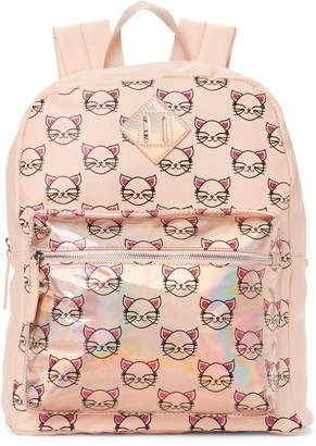 Omg! Accessories Blush Holographic Kitty Backpack