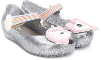 Mini Melissa glitter unicorn ballerina shoes