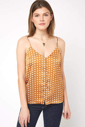Heartloom Mira Polka Dot Button Front Cami