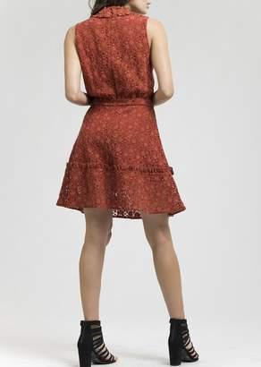 Blu Pepper Sleeveless Lace Dress