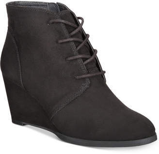 American Rag Baylie Lace-Up Wedge Booties, Created for Macy's Women's Shoes