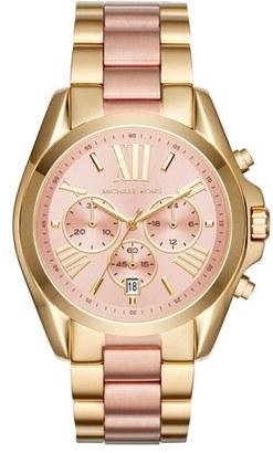 Women's Michael Kors 'Bradshaw' Chronograph Bracelet Watch, 43Mm $250 thestylecure.com