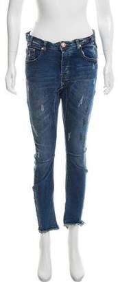One Teaspoon One x Mid-Rise Skinny Jeans