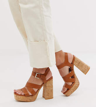 70bae0532a151 Brown Stacked Heel Sandals For Women - ShopStyle UK
