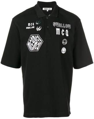 McQ embroidered appliqué polo shirt