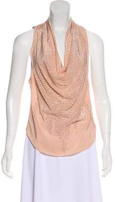 Ramy Brook Sleeveless Embellished Silk Top w/ Tags