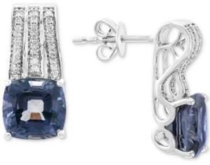Effy Grey Spinel (5-1/4 ct. t.w.) & Diamond (1/5 ct. t.w.) Drop Earrings in 14k White Gold