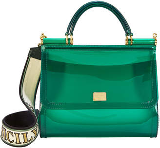 Dolce & Gabbana Sicily Green Rubber Bag