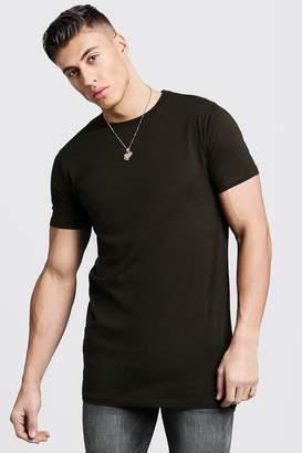 boohoo Longline Crew Neck T-Shirt
