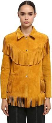 Isabel Marant Abel Suede Jacket W/ Fringe