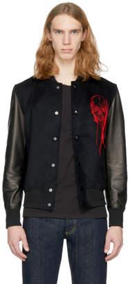 Alexander McQueen Black Skull Bomber Jacket