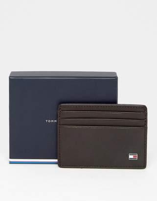 Tommy Hilfiger Eton Leather Cardholder In Brown