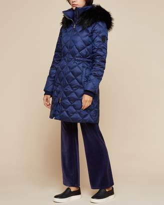 Juicy Couture Navy Hooded Down Puffer Coat