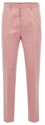 BOSS Hugo Linen Cotton Dress Pant, Slim Fit Pirko 30R Red