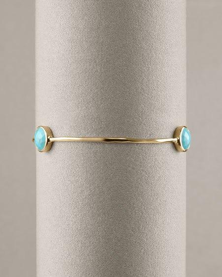 Ippolita Three-Stone Turquoise Bangle
