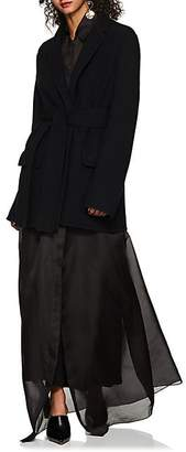 The Row Women's Tora Wool-Blend Fleece Belted Blazer - Black