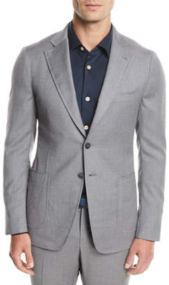 Isaia Men's Solid Wool-Stretch Two-Piece Suit