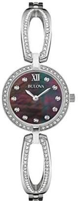 Bulova Women's 96L224 Swarovski Crystal Stainless Steel Watch