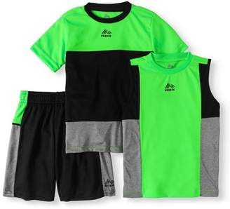 RBX Boys 3-Piece Color Blocked Tee, Muscle Tank and Shorts Set