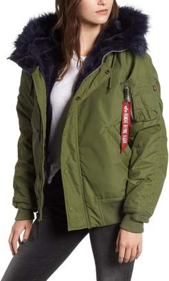 Alpha Industries N-2B Impact Faux Fur Trim Parka