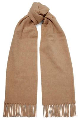 Acne Studios Canada Fringed Wool Scarf - Beige
