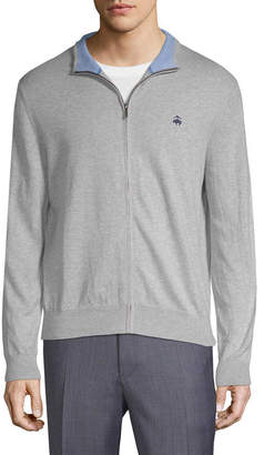 Brooks Brothers Full Zip Ribbed Sweater