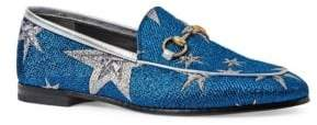 Gucci New Jordaan Star Lurex Loafers