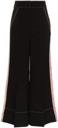 Roksanda Hasani wide leg contrasting stripe trousers