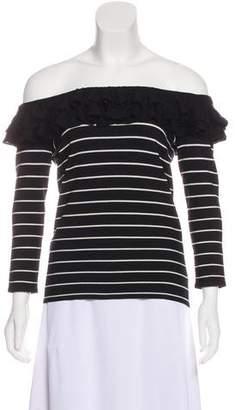 Ralph Lauren Black Label Off The Shoulder Long Sleeve Top