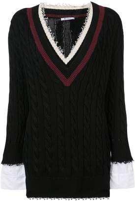 Alexander Wang deep V-neck jumper