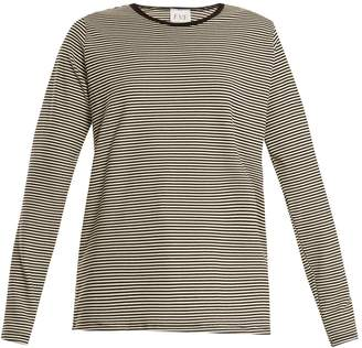 EVE DENIM Alexa striped-jersey T-shirt