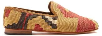 Artemis design shoes Artemis Design Shoes - Geometric Patterned Woven Kilim Loafers - Mens - Multi