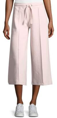 Vince Drawstring Crop Culotte Pants with Pintucking
