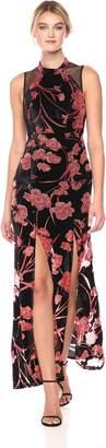 BCBGeneration Women's Velvet Gown with Front Slits