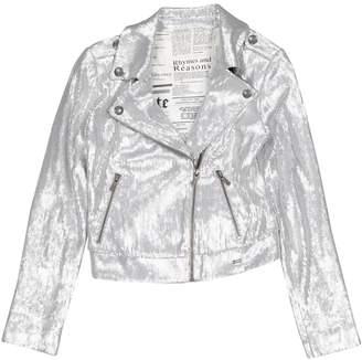 John Galliano Silver Polyester Jacket & Coat