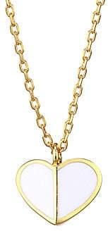 Kate Spade Women's Enamel Heart Mini Pendant Necklace