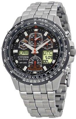 Citizen (シチズン) - シチズン/Citizen/逆輸入/スカイホーク/エコドライブ/JY0000-53E/ブラックダイアル×/ステンレススチールベルト