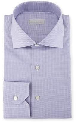Stefano Ricci Micro Houndstooth Cotton Dress Shirt