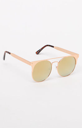 Quay The In Crowd Round Sunglasses $55 thestylecure.com