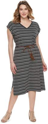 Sonoma Goods For Life Plus Size SONOMA Goods for Life Stripe Midi Dress