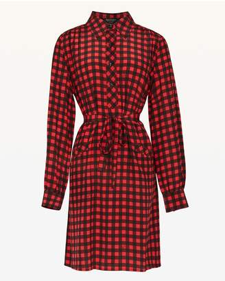 Juicy Couture Check Silk Shirtdress