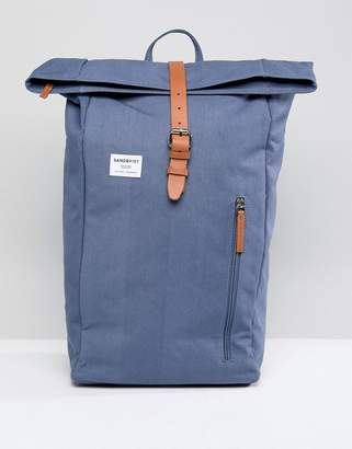 SANDQVIST Dante Rolltop Backpack In Blue
