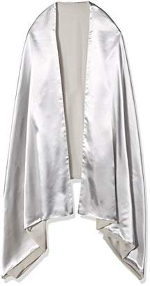 Orchid Row Women's Reversible Satin and Chiffon Evening Wrap O/S