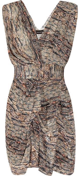Isabel Marant Eley devoré-velvet dress