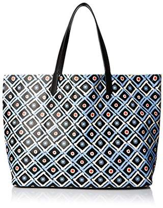 Yarnz Women's Tiki Hut Leather Tote Bag