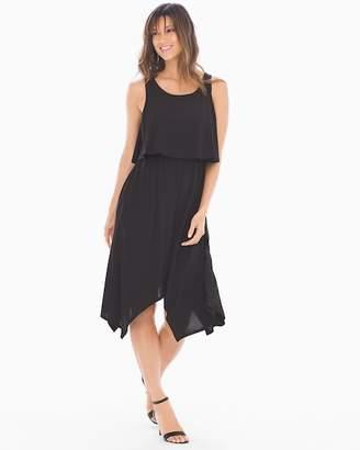 Bliss Knit Sleeveless Layered Dress Black