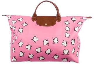 Jeremy Scott x Longchamp Leather-Trimmed Printed Tote