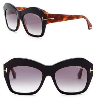 Tom Ford Emmanuelle 54mm Square Sunglasses