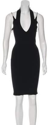 Versace Vintage Crystal Halter Dress