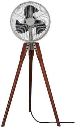 Pottery Barn Arden Floor Fan, Satin Nickel